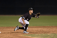 AZL White Sox second baseman Nick Madrigal (7) covers second base on a stolen base attempt during an Arizona League game against the AZL Athletics at Camelback Ranch on July 15, 2018 in Glendale, Arizona. The AZL White Sox defeated the AZL Athletics 2-1. (Zachary Lucy/Four Seam Images)