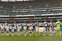 Mexico City, Mexico - Saturday June 10, 2017: Starting 11 during a 2018 FIFA World Cup Qualifying Final Round match between the men's national teams of the United States (USA) and Mexico (MEX) at Azteca Stadium.