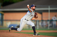 Mahoning Valley Scrappers relief pitcher Devon Stewart (20) delivers a pitch during a game against the Auburn Doubledays on June 19, 2016 at Falcon Park in Auburn, New York.  Mahoning Valley defeated Auburn 14-3.  (Mike Janes/Four Seam Images)