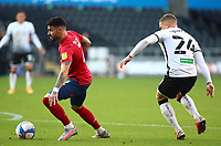 17th October 2020; Liberty Stadium, Swansea, Glamorgan, Wales; English Football League Championship Football, Swansea City versus Huddersfield Town; Pipa of Huddersfield Town controls the ball as Jake Bidwell of Swansea City pressures from behind
