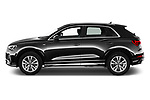 Car Driver side profile view of a 2021 Audi Q3 S-line 5 Door SUV Side View