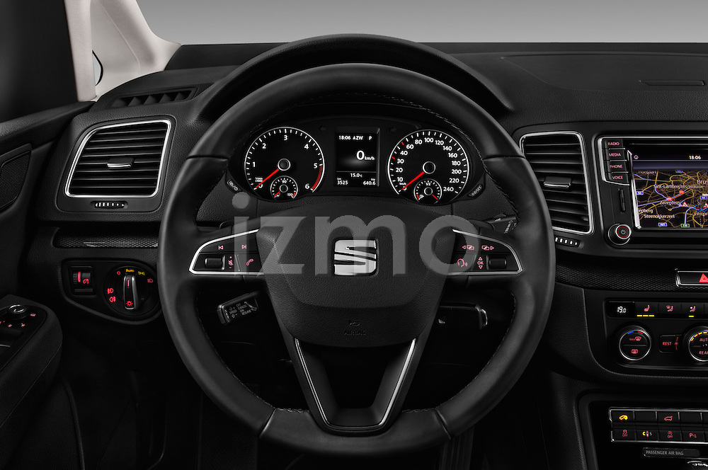 Car pictures of steering wheel view of a 2016 Seat Alhambra Style Advance 5 Door Minivan Steering Wheel