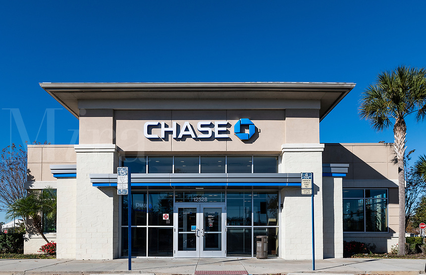 Chase Bank branch, Orlando, Florida, USA.