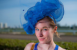 HALLANDALE BEACH, FL - JAN 28: A fan dresses in style and shows off a fashionable hat during Pegasus World Cup Invitational Day at Gulfstream Park Race Course on January 28, 2017 in Hallandale Beach, Florida. (Photo by Scott Serio/Eclipse Sportswire/Getty Images)