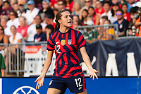 EAST HARTFORD, CT - JULY 5: Tierna Davidson #12 of the United States reacts to a call during a game between Mexico and USWNT at Rentschler Field on July 5, 2021 in East Hartford, Connecticut.