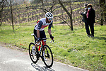 Julian Bernard (FRA) Trek-Segafredo attacks from the breakaway on Mont Brouilly during Stage 4 of Paris-Nice 2021, running 187.5km from Chalon-sur-Saone to Chiroubles, France. 10th March 2021.<br /> Picture: ASO/Fabien Boukla | Cyclefile<br /> <br /> All photos usage must carry mandatory copyright credit (© Cyclefile | ASO/Fabien Boukla)