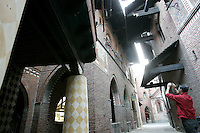 Il Borgo medievale all'interno del Parco del Valentino a Torino.<br /> The medieval village in the Parco del Valentino, Turin.<br /> UPDATE IMAGES PRESS/Riccardo De Luca