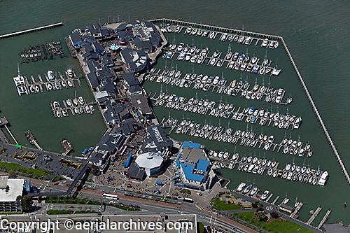 aerial photograph Pier 39 Fisherman's Wharf San Francisco