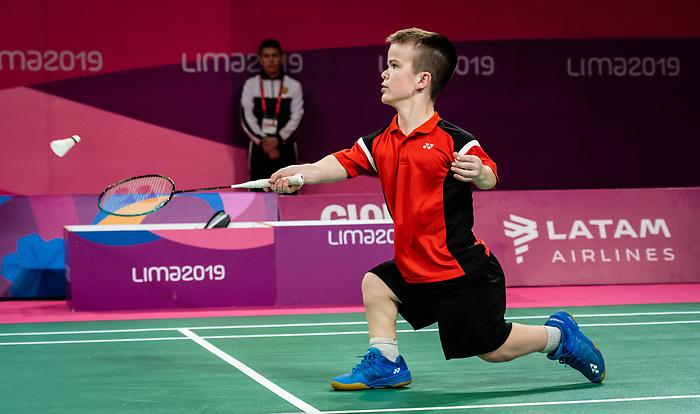Wyatt Lightfoot, Lima 2019 - Para Badminton // Parabadminton.<br /> Wyatt Lightfoot competes in Para Badminton // Wyatt Lightfoot participe à Para Badminton. 29/08/2019.