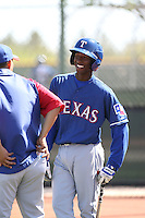 Jurickson Profar, Texas Rangers minor league spring training..Photo by:  Bill Mitchell/Four Seam Images.