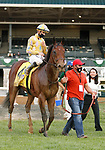 "Octover 02, 2020 : #4 Diamond Oops and jockey Florent Geroux win the 168th running of The Stoll Keenon Ogden Phoenix (Grade 2) ""Win and You're In Breeders' Cup Sprint Division"" for owner Diamond 100 Racing Club, Amy Dunne and owner/trainer Patrick Biancone at Keeneland Racecourse in Lexington, KY on October 02, 2020.  Candice Chavez/ESW/CSM"