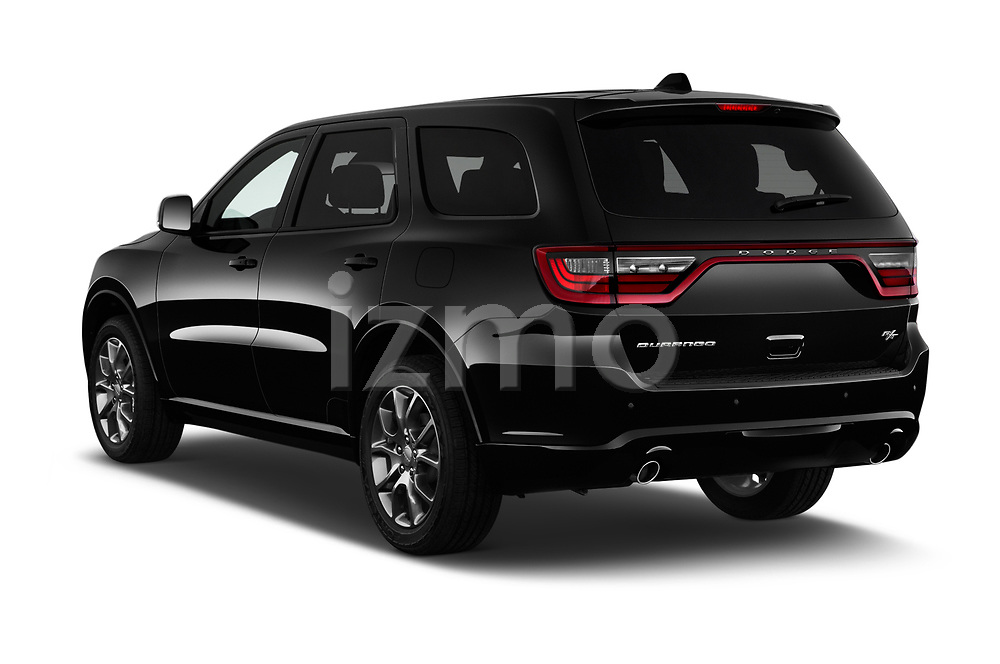 Car pictures of rear three quarter view of a 2017 Dodge Durango R/T RWD 5 Door SUV angular rear