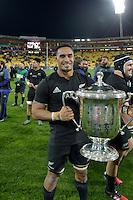 All Blacks' Jerome Kaino. All Blacks v Wallabies. The Rugby Championship & Bledisloe Cup at Westpac Stadium, Wellington, New Zealand on Saturday 27 August 2016.<br /> Photo by Masanori Udagawa. <br /> www.photowellington.photoshelter.com.