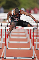 5 April 2008: Myles Bradley during the Stanford Invitational at the Cobb Track and Angell Field in Stanford, CA.
