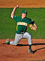 19 April 2009: University of Vermont Catamounts' right handed pitcher Owen Ozanich, a Sophomore from South Burlington, VT, on the mound against the University at Albany Great Danes at Historic Centennial Field in Burlington, Vermont. The Great Danes defeated the Catamounts 9-4 in the second game of a double-header. The Catamounts are playing their last season of baseball, as the program has been marked for elimination due to budgetary constraints on the University. Mandatory Photo Credit: Ed Wolfstein Photo