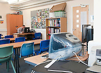 An Apple iMac computer, state secondary school.
