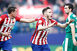 Atletico de Madrid's Saul Niguez celebrates goal during La Liga match. February 6,2016. (ALTERPHOTOS/Acero)