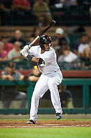 Scottsdale Scorpions Miguel Andujar (18), of the New York Yankees organization, during a game against the Salt River Rafters on October 12, 2016 at Scottsdale Stadium in Scottsdale, Arizona.  Salt River defeated Scottsdale 6-4.  (Mike Janes/Four Seam Images)