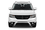 Car photography straight front view of a 2020 Dodge Journey Crossroad 5 Door SUV Front View