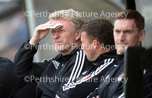 St Johnstone v Real Sociadad...12.07.15  Bayview, Methil (Home of East Fife FC)<br /> David Moyes watches the game<br /> Picture by Graeme Hart.<br /> Copyright Perthshire Picture Agency<br /> Tel: 01738 623350  Mobile: 07990 594431
