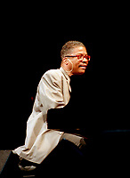 Montreal (Qc) CANADA, June 27 1997-<br />  Herbie Hancock at<br /> Montreal Jazz Festival<br /> <br /> -Photo (c)  Images Distribution