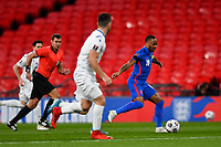 25th March 2021; Wembley Stadium, London, England;  Captain Raheem Sterling England breaks on the ball during the World Cup 2022 Qualification match between England and San Marino at Wembley Stadium in London, England.