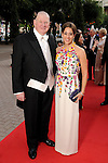 Kristina and Paul Somerville at the Houston Grand Opera Ball - Carousel! at the Wortham Theater Saturday April 9,2016.(Dave Rossman Photo)
