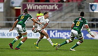 Friday 2nd October 2020 | Ulster Rugby vs Benetton Rugby<br /> <br /> Stewart Moore moves play wide during the PRO14 Round 1 clash between Ulster Rugby and Benetton Rugby at Kingspan Stadium, Ravenhill Park, Belfast, Northern Ireland. Photo by John Dickson / Dicksondigital
