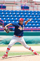 Manuel De La Cruz of the Gulf Coast League Cardinals during the game at Space Coast Stadium in Viera, Florida July 11 2010.  Photo By Scott Jontes/Four Seam Images