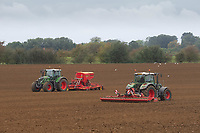 1.10.2020 Power harrowing and drilling in Lincolnshire <br /> ©Tim Scrivener Photographer 07850 303986<br />      ....Covering Agriculture In The