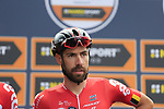Thomas De Gendt (BEL) Lotto-Soudal at sign on before the start of the 99th edition of Milan-Turin 2018, running 200km from Magenta Milan to Superga Basilica Turin, Italy. 10th October 2018.<br /> Picture: Eoin Clarke | Cyclefile<br /> <br /> <br /> All photos usage must carry mandatory copyright credit (© Cyclefile | Eoin Clarke)