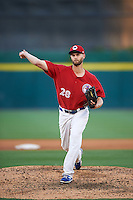 Buffalo Bisons starting pitcher Chris Leroux (28) delivers a pitch during a game against the Louisville Bats on June 22, 2016 at Coca-Cola Field in Buffalo, New York.  Buffalo defeated Louisville 8-1.  (Mike Janes/Four Seam Images)