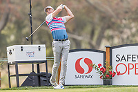 11th September 2020, Napa, California, USA;  Martin Laird of Scotland tees off during the second round of the Safeway Open PGA tournament on September 11, 2020 at Silverado Country Club in Napa, CA.