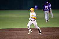 Tennessee Volunteers left fielder Evan Russell (6) rounds the bases after a home run against the LSU Tigers on Robert M. Lindsay Field at Lindsey Nelson Stadium on March 27, 2021, in Knoxville, Tennessee. (Danny Parker/Four Seam Images)