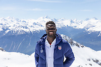 CRANS-MONTANA, SWITZERLAND - MAY 28: Daryl Dike of the United States at Pointe de la Plaine Morte on May 28, 2021 in Crans-Montana, Switzerland.