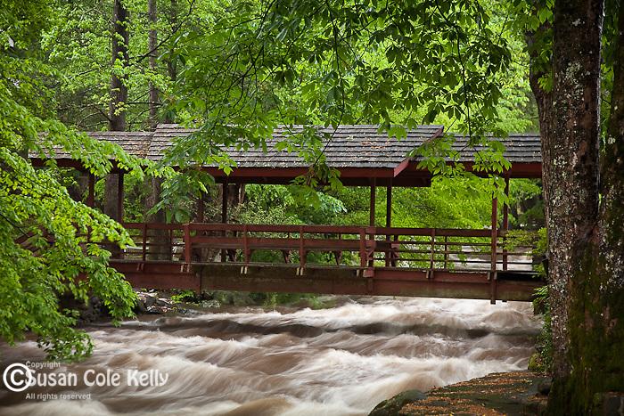 Old footbridge in Gatlinburg, TN, USA