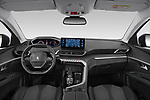 Stock photo of straight dashboard view of 2021 Peugeot 3008 Allure 5 Door SUV Dashboard