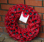 Wreaths at the John Greig statue from Rangers FC