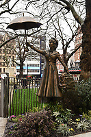 "Mary Poppins statue unveiled at the launch of ""Scenes in the Square"" statue trail in Leicester Square, London.<br /> <br /> ©Ash Knotek  D3558 27/02/2020"