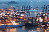 Container terminal in Kwai Chung, Hong Kong..06-JUL-2003