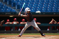 Jayden Melendez (18) of Westminster Christian in Cutler Bay, FL playing for the San Francisco Giants scout team during the East Coast Pro Showcase at the Hoover Met Complex on August 5, 2020 in Hoover, AL. (Brian Westerholt/Four Seam Images)