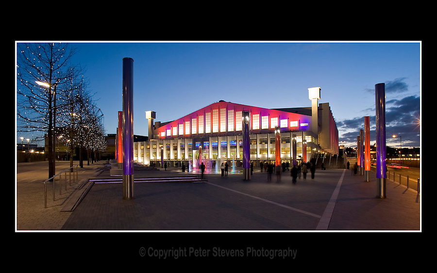 """Wembley Arena (Built 1934 - Renovated 2005 - 2006) - Borough of Brent, London - 1st March 2007 -<br /> <br /> Wembley Arena with 12,500 seats is London's second largest indoor arena. Since reopening in 2006 a """"Square of Fame"""" area has been created in front of the arena."""