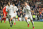 Real Madrid's James Rodriguez and Marco Asensio during Copa del Rey match between Real Madrid and Sevilla FC at Santiago Bernabeu Stadium in Madrid, Spain. January 04, 2017. (ALTERPHOTOS/BorjaB.Hojas)