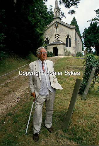 Laurie Lee author Slad near Stroud Gloucestershire 1994, 1990s,
