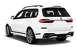 Car pictures of rear three quarter view of a 2019 BMW X7 40i 5 Door SUV angular rear