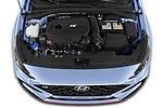 Car Stock 2021 Hyundai i30 N-Performance 5 Door Hatchback Engine  high angle detail view