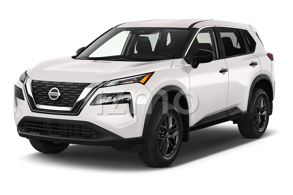2021 Nissan Rogue S 5 Door SUV Angular Front automotive stock photos of front three quarter view