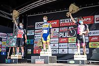 Podium:<br /> <br /> 1st place Sasha Weemaes (BEL/Sport Vlaanderen-Baloise)<br /> 2nd place Gerben Thijssen (BEL/Lotto Soudal)<br /> 3th place Emiel Vermeulen (BEL/Natura4ever)<br /> <br /> Heistse Pijl 2020<br /> One Day Race: Heist-op-den-Berg > Heist-op-den-Berg 190km  (UCI 1.1)<br /> ©kramon