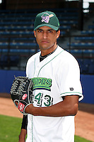 Jamestown Jammers Juan Camilo poses for a photo before a NY-Penn League game at Russell Diethrick Park on July 1, 2006 in Jamestown, New York.  (Mike Janes/Four Seam Images)