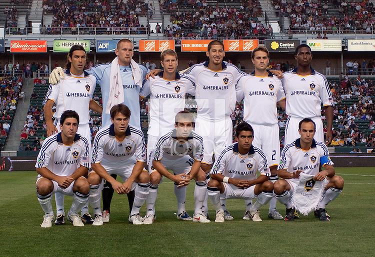LA Galaxy Starting Eleven. The LA Galaxy defeated Chivas USA 1-0 at Home Depot Center stadium in Carson, California Saturday evening July 11, 2009.